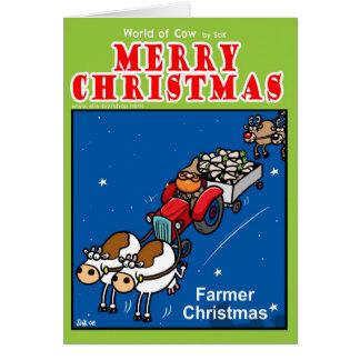 Farmer Christmas Greeting Cards