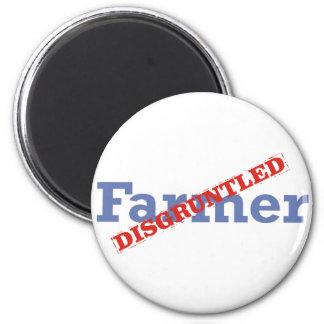 Farmer / Disgruntled 6 Cm Round Magnet