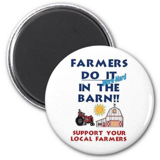 Farmer do it in the barn fridge magnets