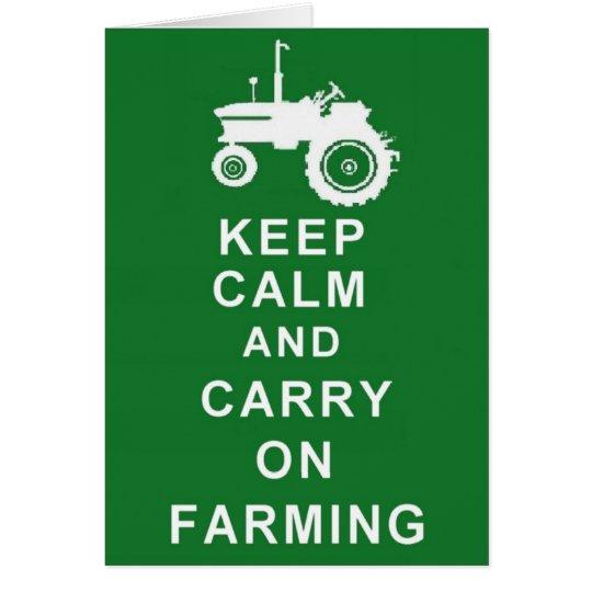 Farmer  Farm Greetings or Birthday Card Tractor