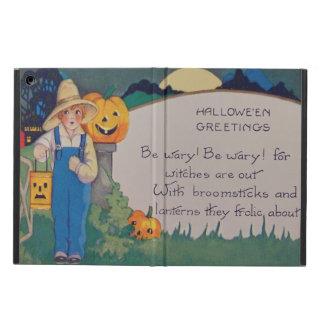 Farmer Girl Smiling Jack O' Lantern Pumpkin Cover For iPad Air