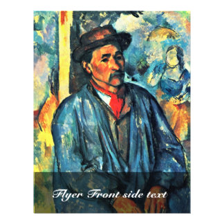 Farmer In Blue Overalls By Paul Cézanne Custom Flyer