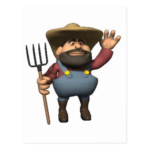 farmer is here post card