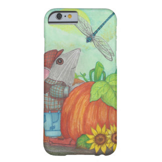 Farmer Mouse with Dragonfly at Pumpkin Patch Barely There iPhone 6 Case
