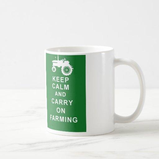 Farmer mug KEEP CALM CARRY ON FARMING birthday