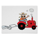 Farmer On A Tractor Poster