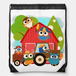 Farmer Owls Drawstring Bag