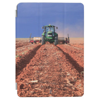Farmer Planting Maize Using Tractor, Vaalkop iPad Air Cover