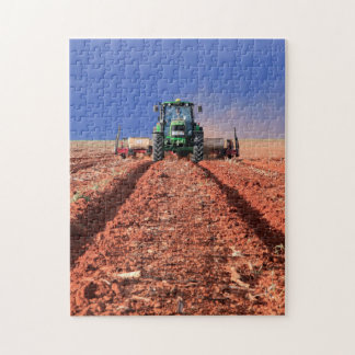 Farmer Planting Maize Using Tractor, Vaalkop Jigsaw Puzzle