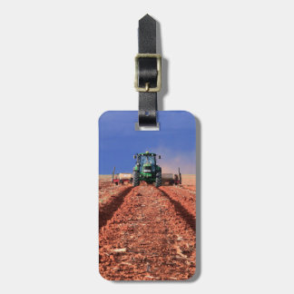 Farmer Planting Maize Using Tractor, Vaalkop Luggage Tag