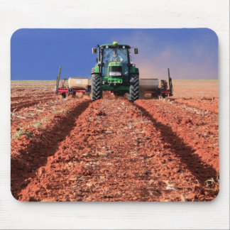 Farmer Planting Maize Using Tractor, Vaalkop Mouse Mat