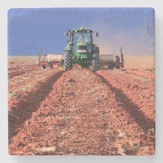 Farmer Planting Maize Using Tractor, Vaalkop Stone Coaster
