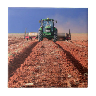 Farmer Planting Maize Using Tractor, Vaalkop Tile