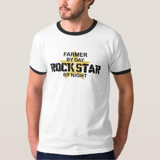 Farmer Rock Star by Night T-Shirt