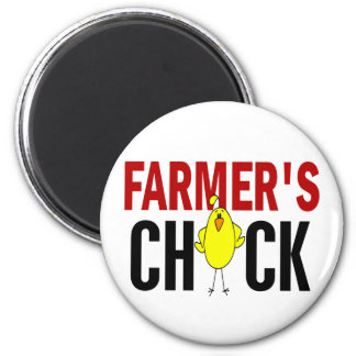 Farmer's Chick 6 Cm Round Magnet