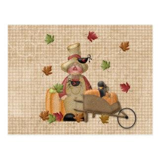 Farmer Scarecrow Post Cards