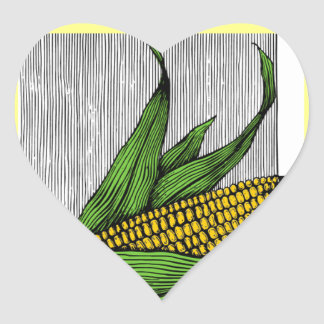 farmer heart sticker