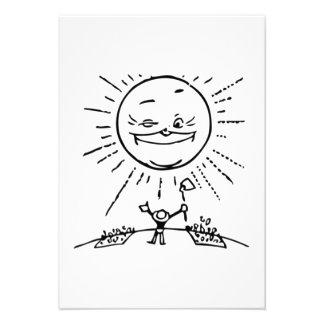 Farmer Sunrise Custom Announcements