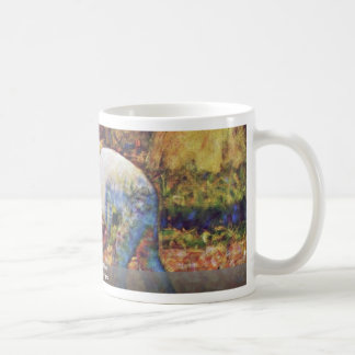 Farmer With Hoe By Seurat Georges Coffee Mug