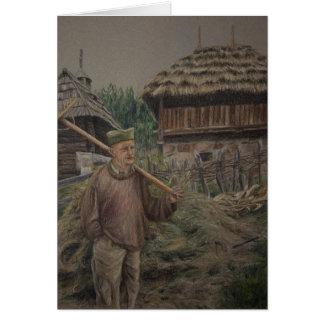 Farmer with rake, Sirogojno Card