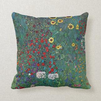 Farmergarden w Sunflower by Klimt, Vintage Flowers Cushion