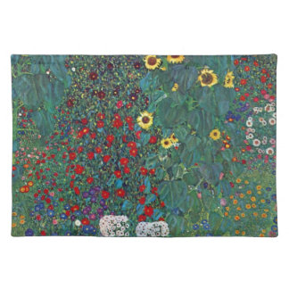 Farmergarden w Sunflower by Klimt, Vintage Flowers Placemat