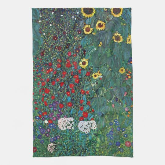 Farmergarden w Sunflower by Klimt, Vintage Flowers Tea