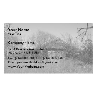 Farmers Abandoned Home At Palacios In Texas Business Card Template