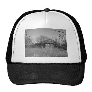Farmers Abandoned Home At Palacios In Texas Mesh Hats