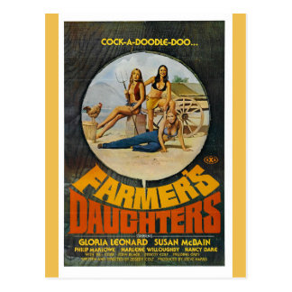 FARMER'S DAUGHTERS POSTCARD