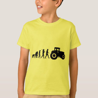 Farmers Evolution of Farming Farm Tractor Drivers T-Shirt