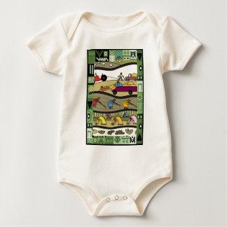 Farmers feed the world baby bodysuit