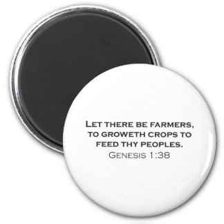 Farmers / Genesis Refrigerator Magnets