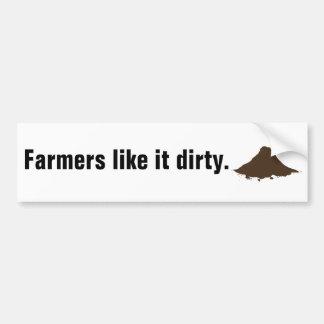 Farmers Like It Dirty Bumper Sticker