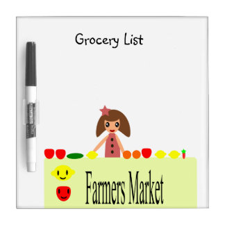 Farmers Market 2.0 Grocery List 99.2 Dry Erase Board