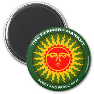 Farmers Market 6 Cm Round Magnet