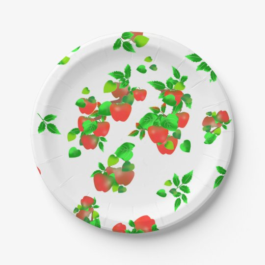 Farmer's Market Apple Picking Paper Plate