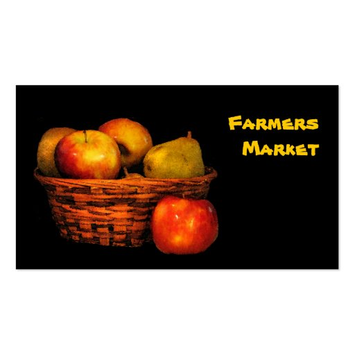 Farmers Market Apples and Pears Business Card Template