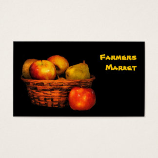 Farmers Market Apples and Pears Business Card