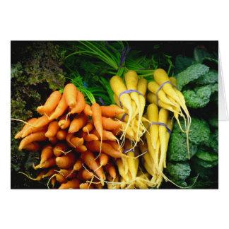 farmers market carrots greeting card