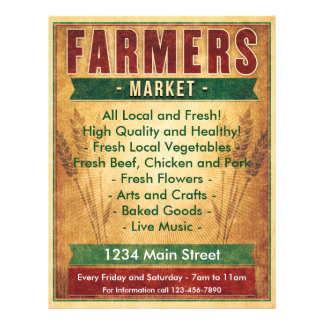 Farmers Market Eat Local 21.5 Cm X 28 Cm Flyer