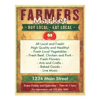 Farmers Market Eat Local Sign 21.5 Cm X 28 Cm Flyer