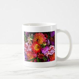 Farmers market flowers basic white mug