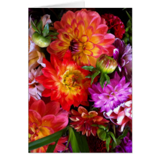 Farmers market flowers greeting card