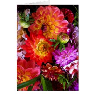 Farmers market flowers greeting card