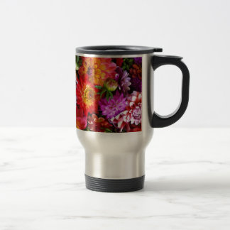 Farmers market flowers stainless steel travel mug