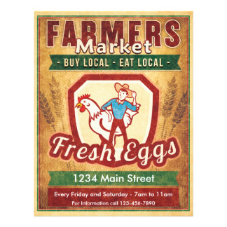 Farmers Market Fresh Eggs 21.5 Cm X 28 Cm Flyer