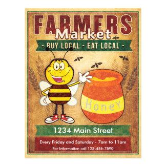 Farmers Market Fresh Local Honey 21.5 Cm X 28 Cm Flyer