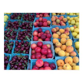 Farmers Market Fruit Postcard