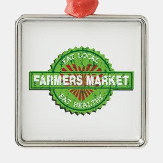 Farmers Market Heart Christmas Ornament